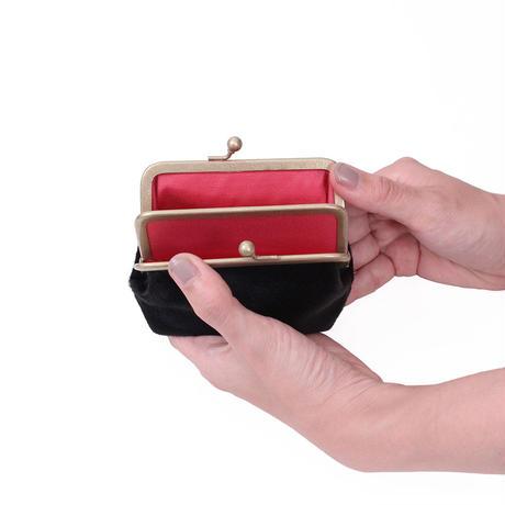 がま口財布 BLACK(ハラコ)