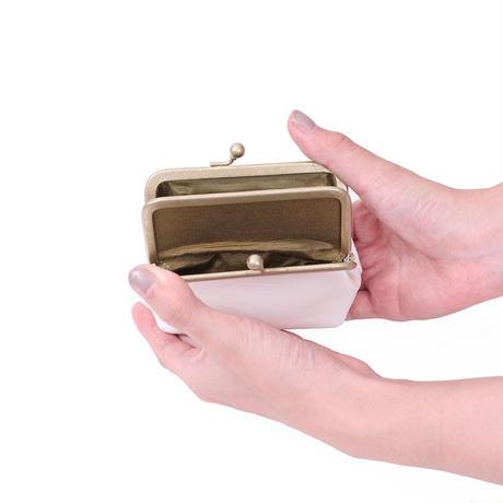 がま口財布 WHITE(ブッテーロ)