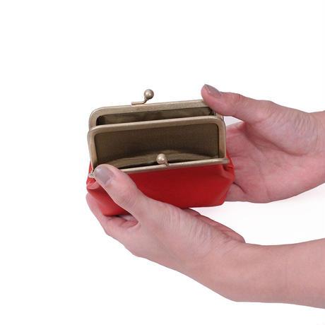 がま口財布 RED(ブッテーロ)