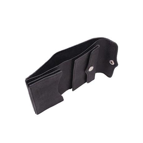 三つ折りサイフ BISON-BLACK