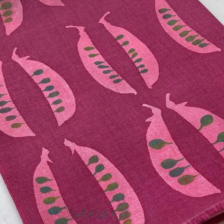 手ぬぐい [さやえんどう] 赤紫 / Tenugui -Field peas -