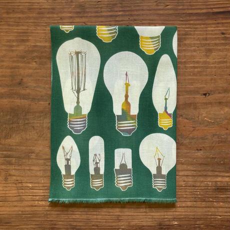 手ぬぐい [電球] 深緑 / Tenugui -Light bulbs -