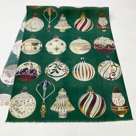 手ぬぐい [クリスマスオーナメント] 緑 / Tenugui -Christmas ornaments-
