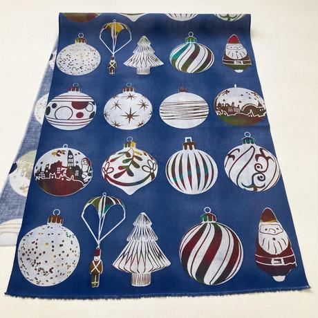 手ぬぐい [クリスマスオーナメント] 青 / Tenugui -Christmas ornaments-