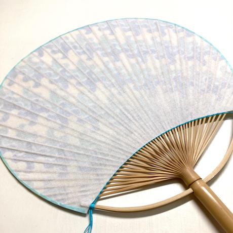 房州うちわ [千鳥] 黄色系 / Round Fun -Traditional Japanese Pattern CHIDORI-