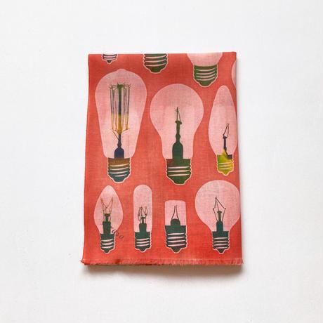 手ぬぐい [電球] 朱 / Tenugui -Light bulbs -