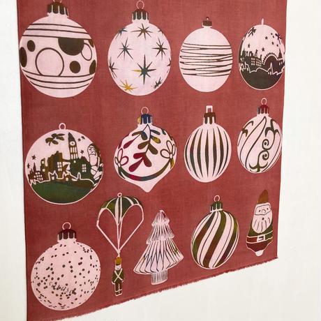 手ぬぐい [クリスマスオーナメント] 赤 / Tenugui -Christmas ornaments-