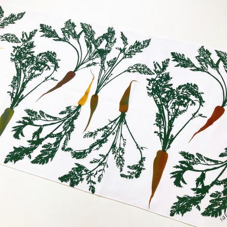 手ぬぐい [人参] 緑 / Tenugui -Carrots-