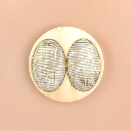 ad print earring(simple type)/cafe au lait