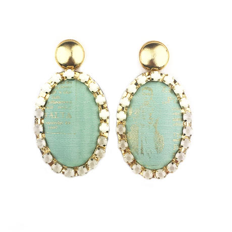 ad print earring(gorgeous type)/mint green