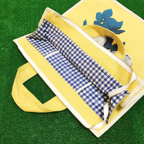 Rose Garden BAG/Mustard(White Line)