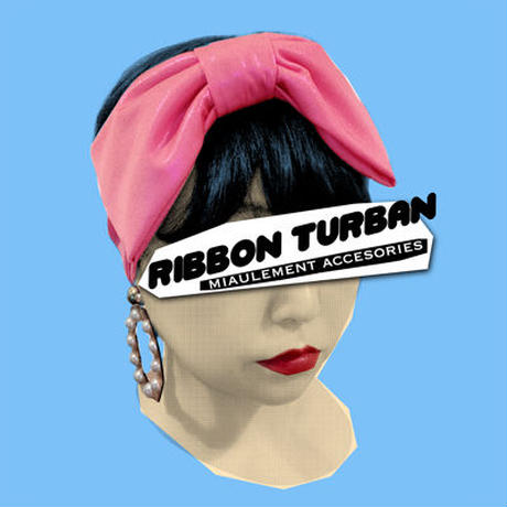 Ribbon Hair Turban/metallic
