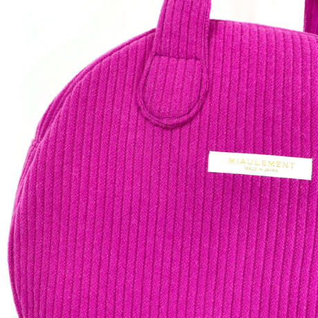 vivid corduroy circle bag/ magenta