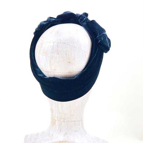 stretch velor turban/black