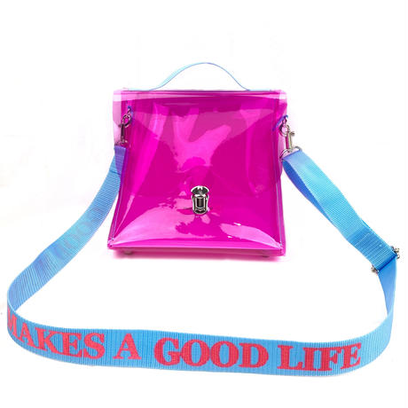 7inch  PVC  Record BAG /Magenta×Light Blue