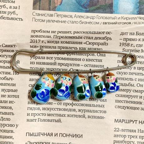 【ロシア買付】マトリョーシカストールピン