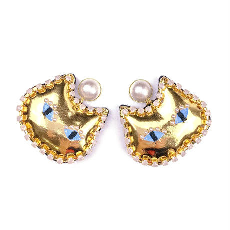 cat earrings/pierced earrings