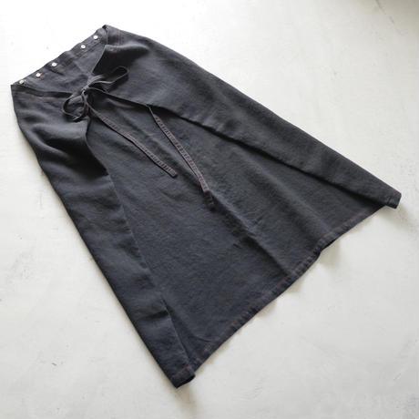 SK87 リンクルリネンフォールドSK(後染め) / about 90cm