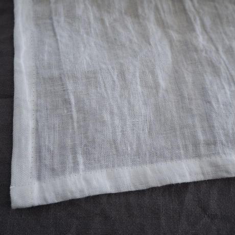 リネンカーテン リボン ホワイト (W135cmxH193cm)