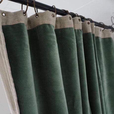 en fil d'indienne...  ベロアカーテン celadon  OUTLET2