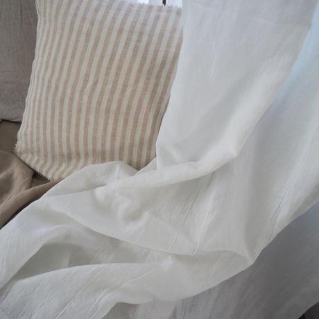リネンカーテン リボン(ワイド)ホワイト