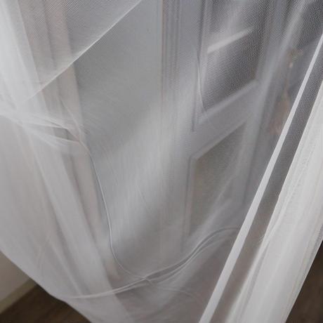 en fil d'indienne... チュールカーテン ホワイト