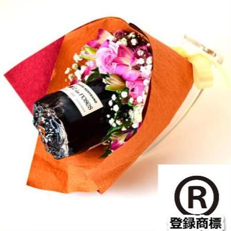 花束ワイン