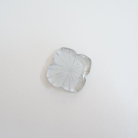 花箸置き 切子 紫陽花 スモーク