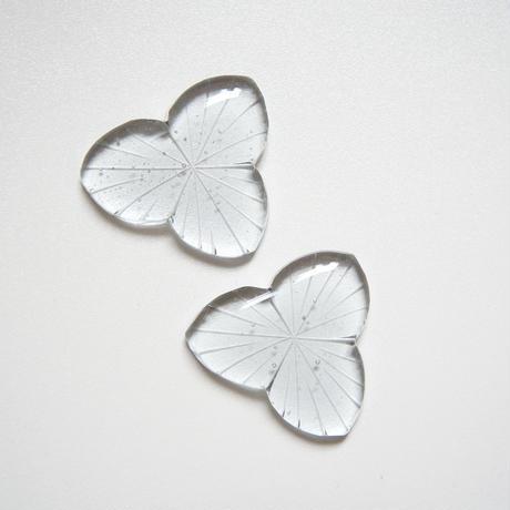 花箸置き 切子 スモーク