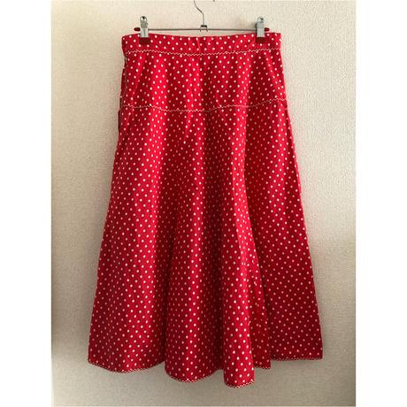 "70's ~""MATTHEW ROYCE "" Polka dots Skirt England Made"