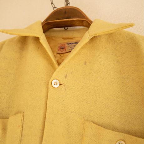 "40~50's ""TOWN CRAFT"" Wool Long Sleeve Shrit"