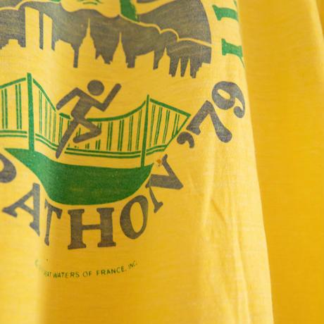 "79's""NEW YORK MARATHON"" Perrier Print T-Shirt"