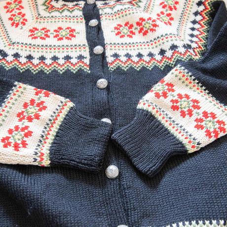 "50~60's ""ALLERS NILSSEN"" Nordic Hand Knit Cardigan"