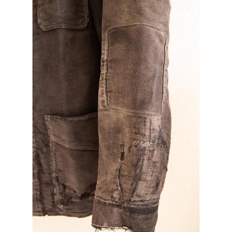 """30~40's """"LE MONT ST MICHEL"""" Black MoleSkin Jacket"""