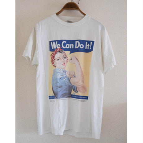 """90's """"We Can Do It!"""" WW2 Poster T-Shirt"""