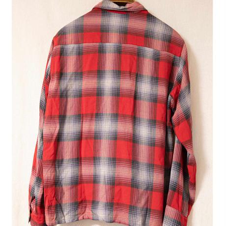 "70's ""Milliken"" Ombre Check Rayon Shirt"