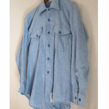 """80s USAF """"COAST GUARD"""" Chambray Shirt"""