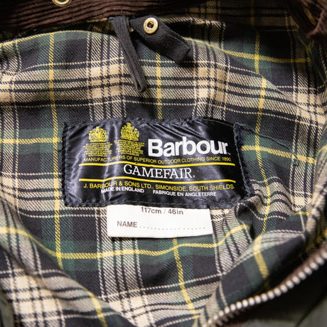 80's 2 warrant Vintage Barbour Game Fair 46in