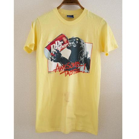 """80's""""GODZILLA"""" Dr.Pepper Print T-Shirt"""