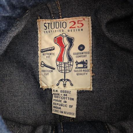 "80's ""STUDIO 25""  Long Sleeves Denim One Piece India Made"