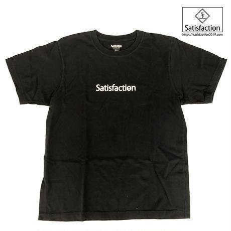 SatisfactionロゴTシャツ ブラック