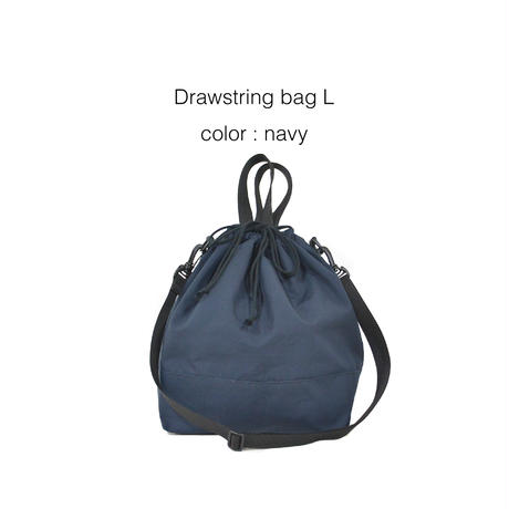 Drawstring bag L  (VENTILE fabric)