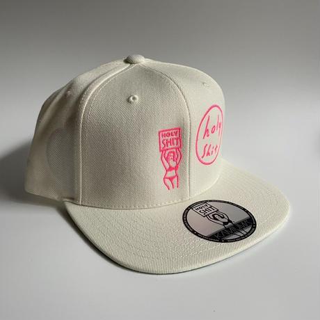 HOLY SHIT SNAPBACK CAP(WHITE)