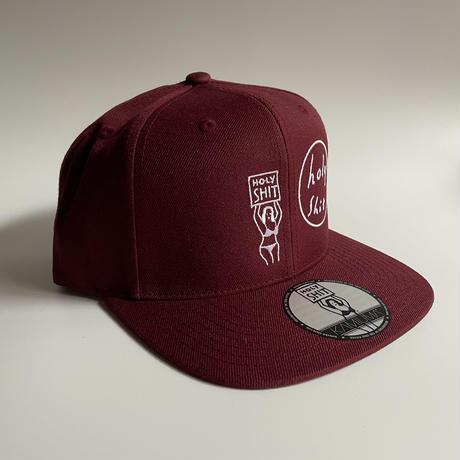 HOLY SHIT SNAPBACK CAP(MAROON)