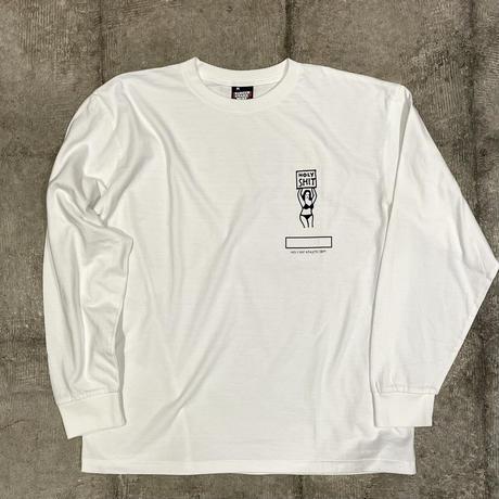 HOLY'S HIT Long Sleeve T-Shirt / WHITE