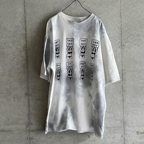 8 SHIT Tie-dye T-Shirt / GREY