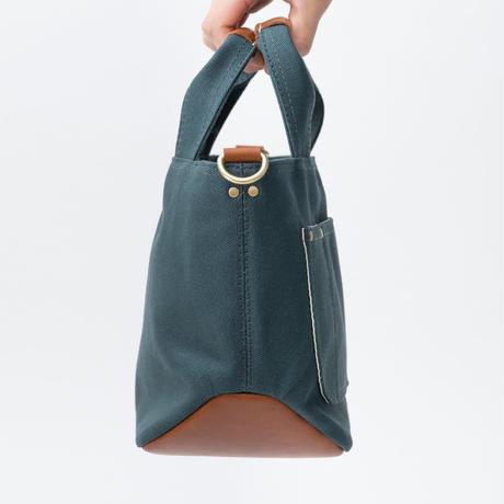 小さな帆布トートバッグ【グリーン/ブラウン】
