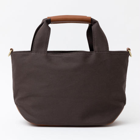 小さな帆布トートバッグ【ブラウン/ブラウン】