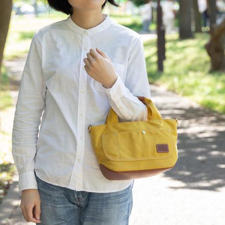 小さな帆布トートバッグ【イエロー/ブラウン】