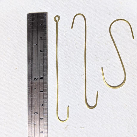 真鍮線の吊り下げフック(3個set)